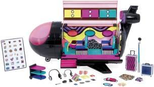 L.O.L. Surprise 'OMG Remix Plane', 3-in-1-Spielzeug, Flugzeug, Auto und Tonstudio, inkl. Zubehör