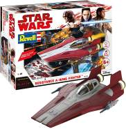 REVELL 06759 - Star Wars Modellbausatz - Build & Play A-Wing Fighter rot 1:44