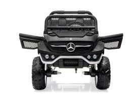 Mercedes Unimog Kinder Elektro Auto Allrad 2- Sitzer 4x35W 12V 14Ah 2. 4G RC Schwarz