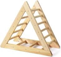 COSTWAY Kletterdreieck aus Holz, Pikler Dreieck