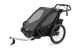 Thule 'Chariot' Fahrradanhänger Set + Thule Babysitz Sport 2 Midnight Black