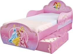 Worlds Apart 'Disney Princess' Kinderbett 70x140 cm, mit zwei Schubladen