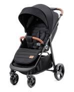 Kinderkraft 'Grande' Sportkinderwagen Schwarz, inkl. Regenschutz, Fußschutz und Einkaufskorb