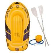 Happy People 77012 'Olympic 230er' Schlauchboot, gelb, 218 x 110 x 36 cm, für zwei Personen, ab 14 Jahren, inkl. zwei Ruder und Pumpe