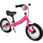 DEUBA 102701 'Kinderlaufrad Street Angel', ab 3 Jahren, höhenverstellbar, inkl. Bremse, pink