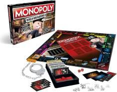 Monopoly 'Mogeln und Mauscheln' Brettspiel, ab 8 Jahren, 2-6 Spieler, inkl. Handschelle