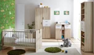 Ticaa 'Nico' 4-tlg. Babyzimmer-Set Sonoma-Weiß