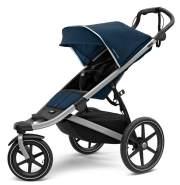 Thule 'Urban Glide 2'Kombikinderwagen 3 in 1 Majolica Blue inkl. Sportsitz, Babywanne und Babyschale Deep Black