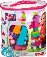 MegaBloks Maxi - Bausteinbeutel Medium, pink 60 Teile