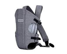 Kikkaboo Babytrage Gwen Bauchtrage Rückentrage breite Schultergurte, verstellbar grau
