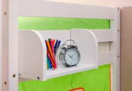 Ticaa Einhängeregal Hoch- und Etagenbett Kiefer klein weiß