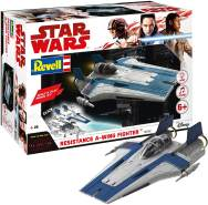 REVELL 06762 - Star Wars Modellbausatz Build & Play - A-Wing Fighter blau 1:44