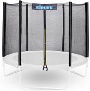 KIDUKU Sicherheitsnetz für Trampoline mit 366 cm Durchmesser und 8 Stangen - Trampolin-Zubehör