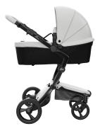 Mima Xari Design Kinderwagen Kollektion 2021 Schwarz (Schwarze Räder) Schnee Weiss