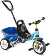 Puky 'CEETY' Dreirad, blau/kiwi, Carry-Touring-Kipper, ab 2 Jahren, inkl. XL-Kippermulde und höhenverstellbare Schiebestange