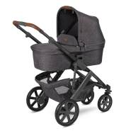 ABC Design 'Salsa 4' Kombikinderwagen 3 in 1 Set S street inkl. Babyschale graphite grey, Adapter und Regenschutz