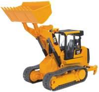 Bruder 02447 'Cat Kettenlader', Spielzeug-Bagger mit Echtgliederkette und funktionsfähigem Ladearm