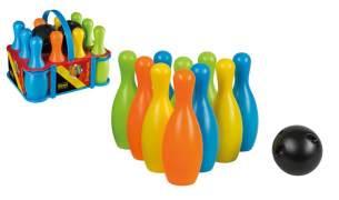 Idena 40116 'Kegelspiel Set XXL' Bowling für Kinder, ca. 20 x 20 x 30 cm, ab 3 Jahren, bunt