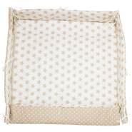 Alvi 'Sterne' Laufgittereinlage beige 75/100x100 cm