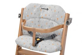 Safety 1st 2003191000 Timba Comfort Cushion, Hochstuhl-Sitzkissen, schnelle und einfache Befestigung, waschbar, bietet dem Kind noch mehr Komfort, warm grau