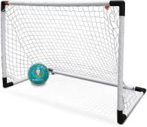 Mondo Toys-UEFA Goal Post Mini-Set 1 Fußballtor für Kinder mit Rete-Ball Euro 2020 INCLUSO-28581, Farbe: Weiß, 28581