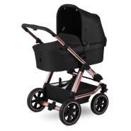 ABC Design 'Viper 4' Kinderwagen 3 in 1 Set rose gold / woven anthracite inkl. Babywanne, Babyschale und Adapter