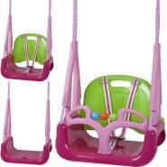 BabyGO 'DoReMi' 3in1 Schaukel, 36,5 x 31 x 45 cm, ab 12 Monaten, bis 100 kg belastbar, pink-grün
