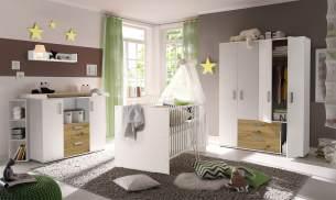 Storado 'Sydney' 6-tlg. Babyzimmer-Set weiß/asteiche