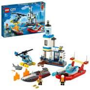 LEGO City 60308 'Polizei und Feuerwehr im Küsteneinsatz', 297 Teile, ab 5 Jahren