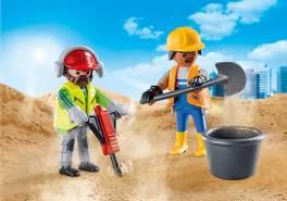 Playmobil 70272 'Zwei Bauarbeiter', 12 Teile, ab 4 Jahren