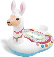 Intex 'Cute Llama Ride-on' Schwimmtier, 135 x 112 x 94 cm, ab 3 Jahren, breite Liegefläche, mit Griffen am Hals zum Festhalten
