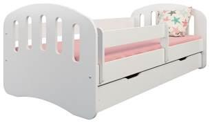 Clamaro 'Joy' Kinderbett 80x160 cm, weiß, inkl. Matratze, Lattenrost und Bettkasten