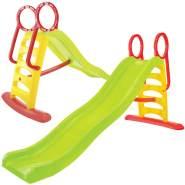 Mochtoys 11557 'Large Slide', 205 x 110 x 84 cm (LxHxB), ab 2 Jahren, 2in1 Kinder- und Wasserrutsche, bis 50 kg belastbar, rot-grün-gelb