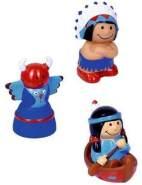 Spritzfiguren Indianer Capt'n Sharky, sortiert, 1 Stück, zufällige Auswahl, keine Vorauswahl möglich