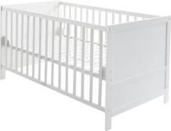 roba Kombi Kinderbett weiß, 70 x 140 cm, Lattenrost 3-fach höhenverstellbar