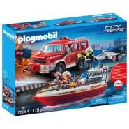 Playmobil City Action 70054 'Feuerwehrfahrzeug mit Löschboot', 115 Teile, ab 4 Jahren