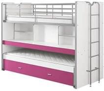 Vipack 'Bonny' Funktionsetagenbett weiß/pink