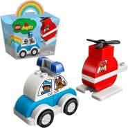 LEGO DUPLO 10957 'Mein erster Feuerwehrhubschrauber und mein erstes Polizeiauto', 14 Teile, ab 1,5 Jahren