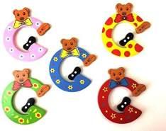 Brink Holzspielzeug Buchstabe: 'G' - 1 Stück, zufällige Auswahl, keine Vorauswahl möglich