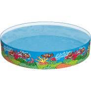 """Bestway 'Fill 'N Fun """"Clownfish""""' Fixbecken, Ø 183 x 38 cm, ab 2 Jahren, ca. 749 Liter Wasserkapazität, kein Aufblasen nötig"""