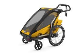 Thule 'Chariot' Fahrradanhänger Set + Thule Babysitz Sport 2 Spectra Yellow