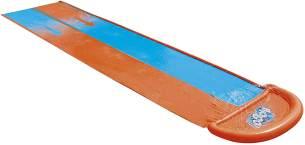 Bestway H2OGO! 'Double' Doppel-Wasserrutsche, 488 x 138 cm, integrierter Wassersprinkler, einfacher Anschluss an Gartenschlauch