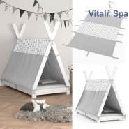 Vitalispa Überwurf für Tipi Bett 80x160 cm