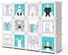 Vicco 'ANDY' Kinderregal DIY modular 11 Fächer blau/weiß/grau