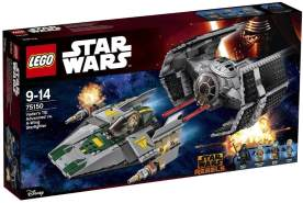 LEGO Star Wars - Vaders TIE Advanced vs. A-Wing Starfighter 75150