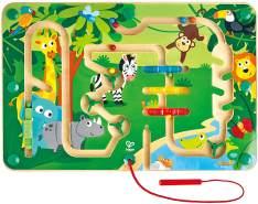 Hape E1714 Dschungel-Labyrinth Magnetlabyrinth, Magnetspiel, fördert u. a. die Feinmotorik, ab 24 Monaten