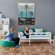 Hoppekids 'Premium' Einzelbett inkl. Absturzschutz und Rahmenlattenrost,90x200cm