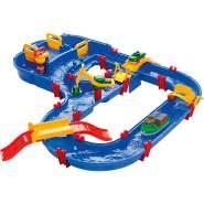 AquaPlay 'Megabridge' Wasserstraße, 105 x 120 x 22 cm, inkl. Schleuse, Hafenstation, Wasserfahrzeug, Schiff und Spielfigur