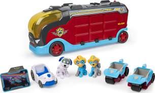 Spin Master 'PAW Patrol Mighty Pups Super Paws Mighty Cruiser', großes Set inkl. 3 Fahrzeugen und 3 Figuren, mit Katapultfunktion und Soundeffekten, ab 3 Jahren