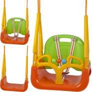 BabyGO 'DoReMi' 3in1 Schaukel, 36,5 x 31 x 45 cm, ab 12 Monaten, bis 100 kg belastbar, grün-orange